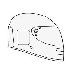 Pilot race helmet vector