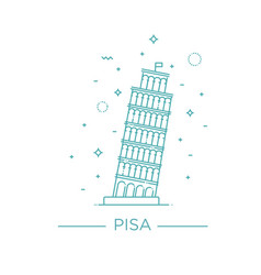 pisa tower icon on white vector image