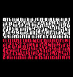 Poland flag pattern of ammo bullet icons vector