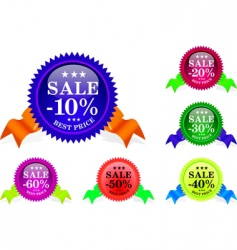 sale sample set vector image