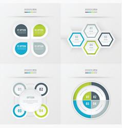 Set of presentation design green blue gray color vector