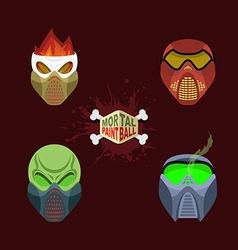 Set paintball mask vector image