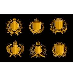 Shields set of Design Elements vector image