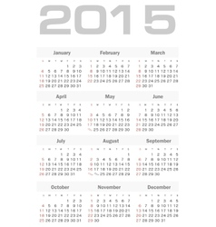 Simple calendar for 2015 year vector image