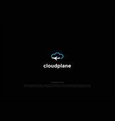 simple minimalist cloud plane for travel vector image