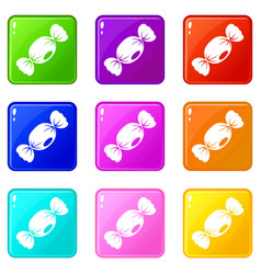 Small candy icons 9 set vector