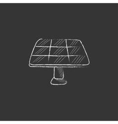 Solar panel Drawn in chalk icon vector