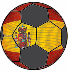 spain flag with soccer ball background vector image