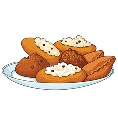 Tasty pastry vector