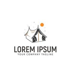 tent logo design concept template vector image
