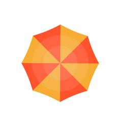 Top view beach umbrella isolated icon vector