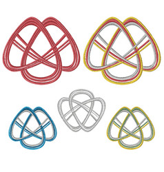 traditional mizuhiki nodes set - for celebration vector image