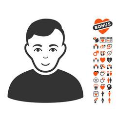 User icon with lovely bonus vector