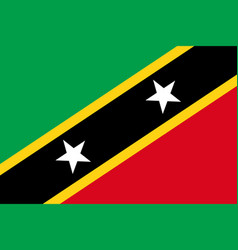 flag of saint kitts and nevis vector image vector image