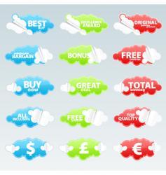 retail retro peeling stickers vector image