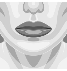 Retro Portrait of beauty Vampire Woman Face vector image vector image