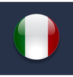 Round icon with flag of Italy vector image vector image