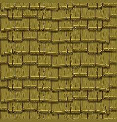 seamless old green wood roof tiles vector image