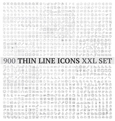 Thin line icons exclusive XXL collection vector image vector image