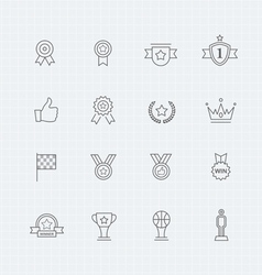 Trophy and prize thin line symbol icon vector image vector image