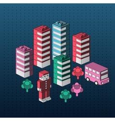 Urban homes vector image