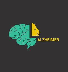 alzheimer logo icon design vector image vector image