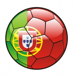 flag of Portugal on soccer ball vector image vector image