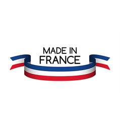 Made in France symbol colored ribbon vector image