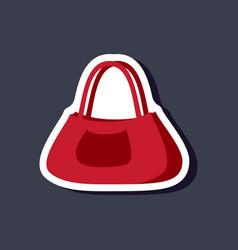 paper sticker fashion clothes ladies handbag vector image vector image
