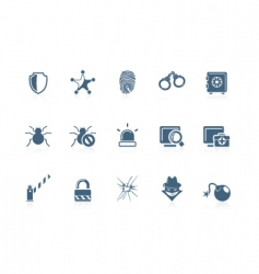 security icons piccolo series vector image vector image