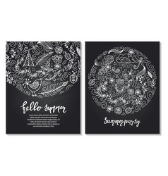 set of design templates vintage frames and vector image vector image