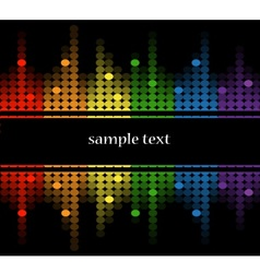 background with multicolored equalizer vector image vector image
