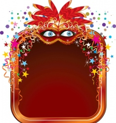 carnival frame vector image vector image