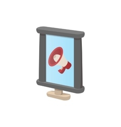 City light advertising billboard icon vector image vector image
