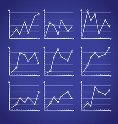 graphic chart in doodle style vector image vector image