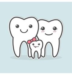 Healthy teeth family vector image
