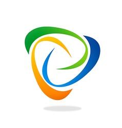 abstract swirl circle logo vector image vector image