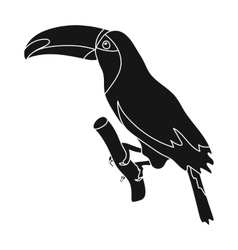Brazilian toucan icon in black style isolated on vector image vector image