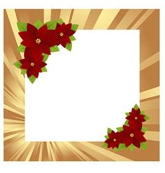 christmas frame gold 01 vector image