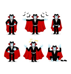 Dracula set of movements Vampire collection of vector image
