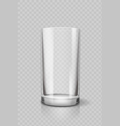 empty drinking glass cup for water vector image