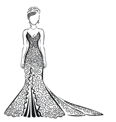 lace dress on a white background vector image