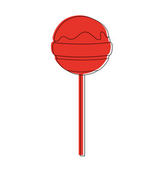 lollipop candy icon image vector image