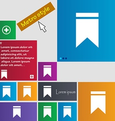 Web stickers tags and banners Sale icon sign Metro vector image vector image