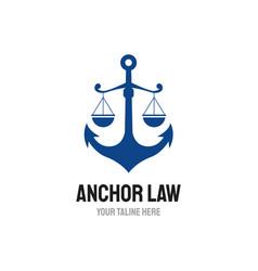 Anchor law logo designs mature logo vintage vector