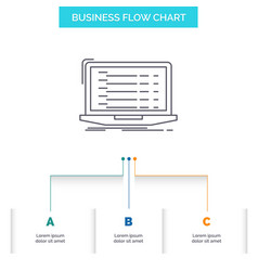 api app coding developer laptop business flow vector image