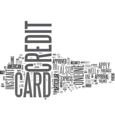 apply online for a credit card in canada text vector image