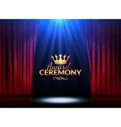 Award ceremony design template event vector