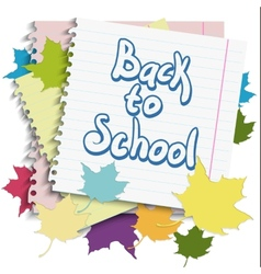 Back to School Design element vector image