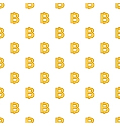 Baht currency symbol pattern cartoon style vector